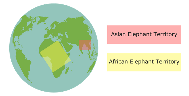 Elephant territories map