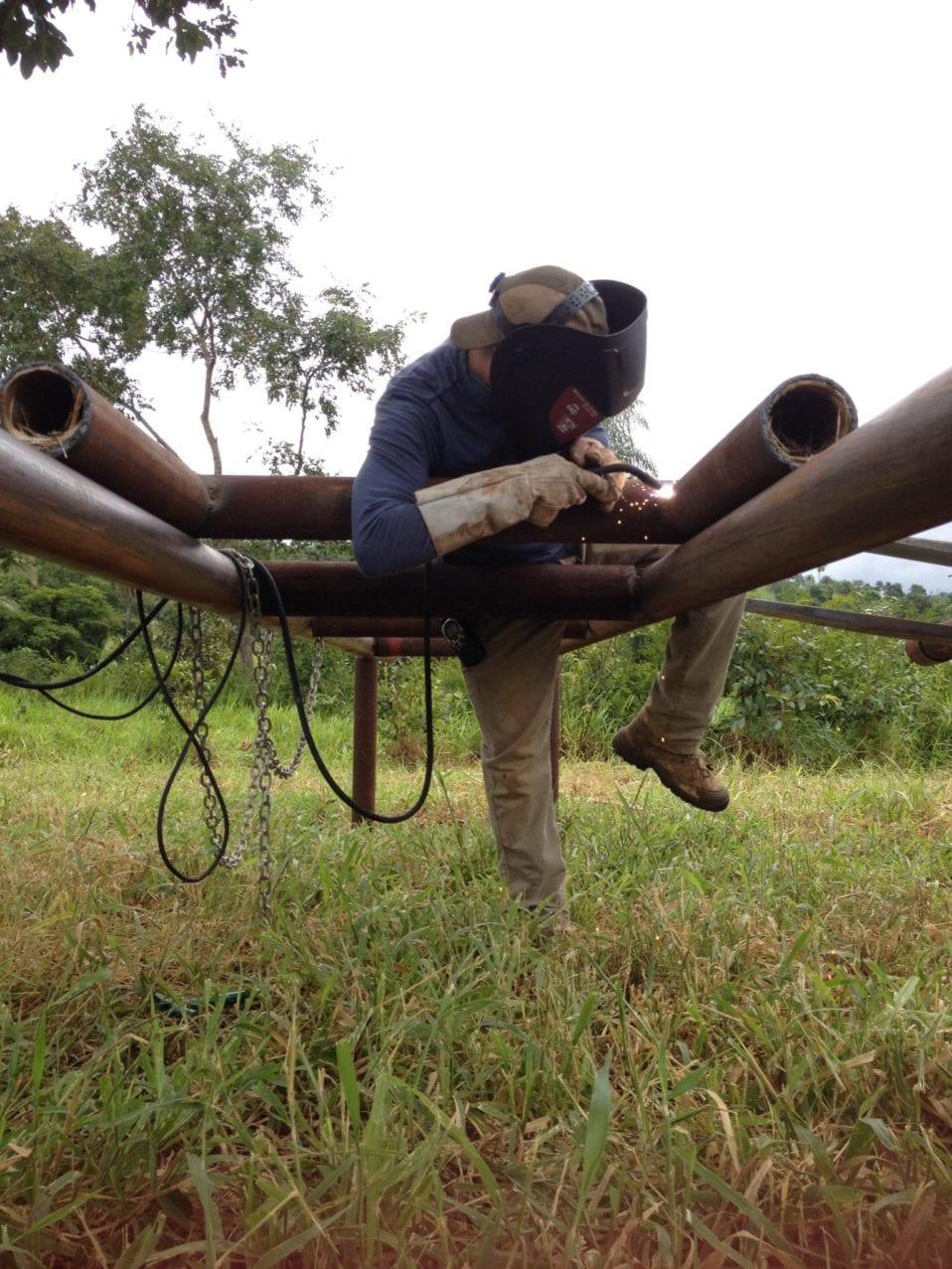 Scott Blais welding