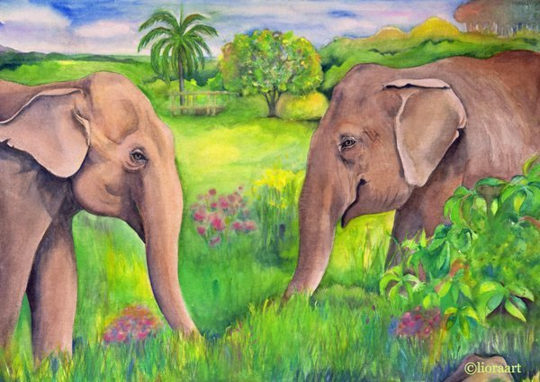 Maia and Guida Print by Liora G. Davis