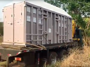Ramba's crate headed to Chile